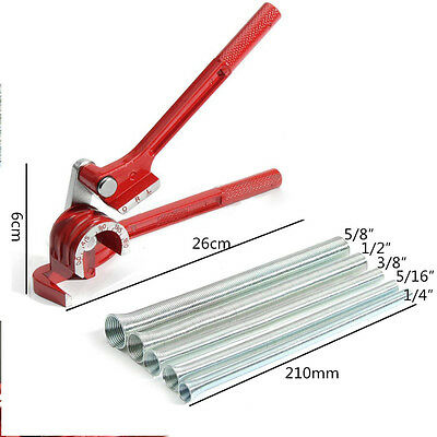 3in1 180°Tube Bender with 5pcs Spring Bending Pipe for Plumbing Copper Aluminum