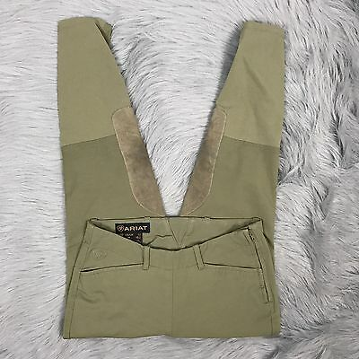 Youth Ariat Riding Pants Khaki Equestrian Side Zip Sz 12 READ