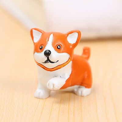 Resin Mini Standing Corgi Dog Puppy Mini Figurine Figure Model  Home Garden GIFT