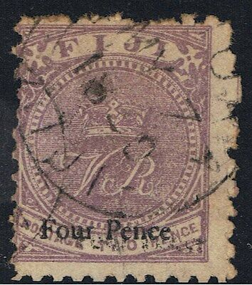 FIJI 1883 4d SURCHARGE ON 2d LILAC