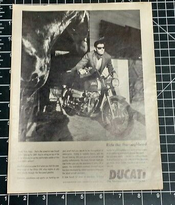 1967 Motorcycle Magazine Ad  -  DUCATI