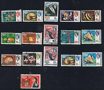 Fiji 1969 - 70 Type Of 1968 With New Values & Royal Visit