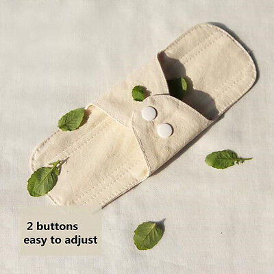 2Pcs Panty Liners Hygiene Women Menstrual Cloth Sanitary Pads Breathable 18.5 Cm