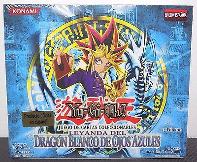 Yugioh 1st Edition Legend of Blue Eyes White Dragon Booster Box ESPANOLA - NEW