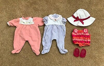 Lot of Retired American Girl Bitty Baby Doll Sleepers Pajamas & Swimsuit Outfit