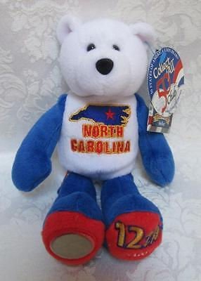 Limited Treasures State Quarters Coin Teddy Bear North Carolina #12