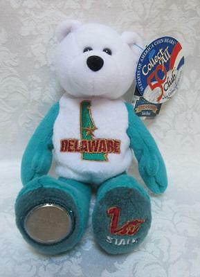 Limited Treasures State Quarters Coin Teddy Bear Delaware #1