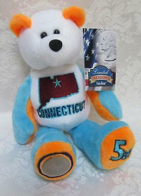 Limited Treasures State Quarters Coin Teddy Bear Connecticut #5