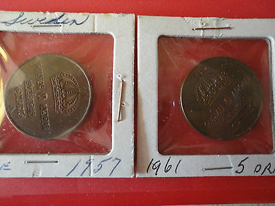 1957  And 1961  Sweden 5 0Re Coins