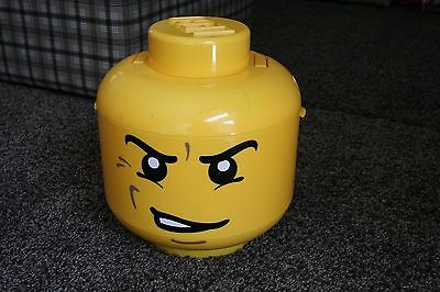 Lego Storage Head - Angry face design