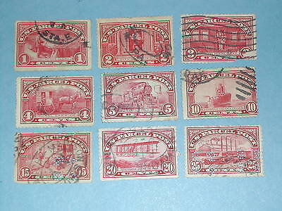 Lot of 9 Parcel Post Stamps (Q1-Q9) Used