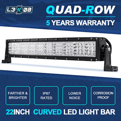 5D 23inch 672W OSRAM LED Work Light Bar Combo Offroad Truck Lamp SUV UTE 22/24""