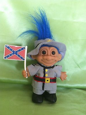Troll Doll Rare Vintage Russ Confederate Soldier Civil War Toy Collectable Gift
