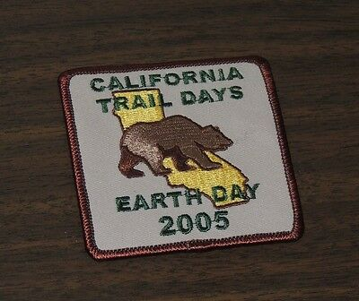 California Trail Days Earth Day 2005 Brown Bear Patch New