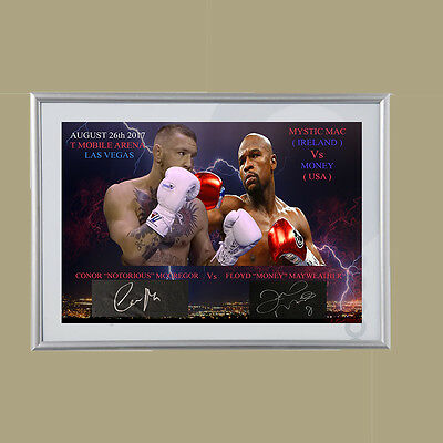 Floyd mayweather vs Conor McGregor signed tribute 16x20   1 only made for sale