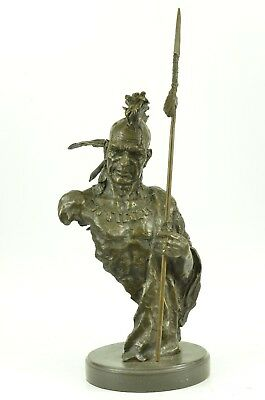 Cherokee Native American Indian South Western Art Bronze Marble Statue Sculpture