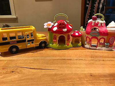 Fisher Price bus, ELC Toadstool, Sweet Shoppe