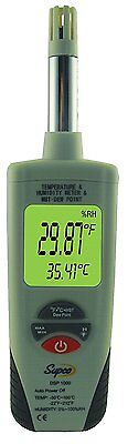 Supco DSP1000 Digital Psychrometer with Dew Point and Wet Bulb, -22 to 212 F, F