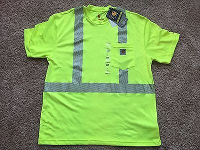 Carhartt 100495323 Men's Force High-Visibility Short-Sleeve Class 2 T-Shirt Nwt