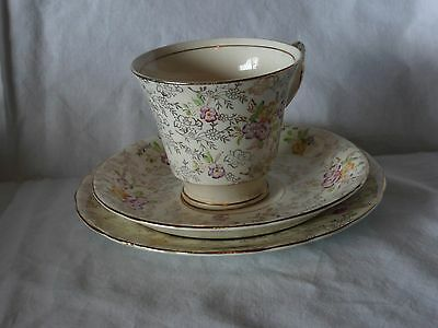 Single C1930s James Kent Pearl Delight Trio Chintz Foley Cup Saucer & Plate