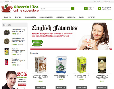 Organic tea turnkey website for sale - Established Domain & Website