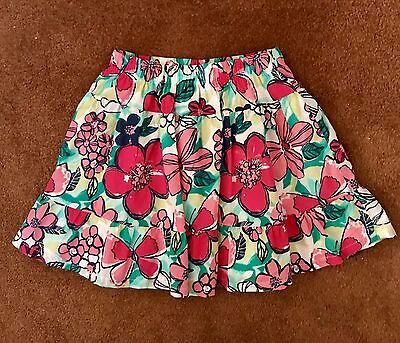 Gymboree Girls Multicolored Floral/Butterfly Print Skirt, Size 7