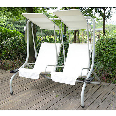 Garden Patio Swing Chair Seat 2 Seater Hammock Swinging Cushioned Sun Lounger