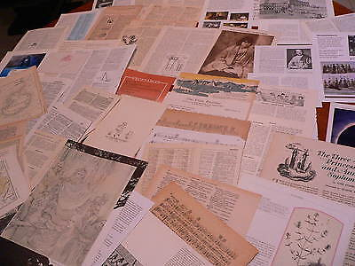 50 Vintage papers,page dictionary music paper, altered art junk journal  PK 115