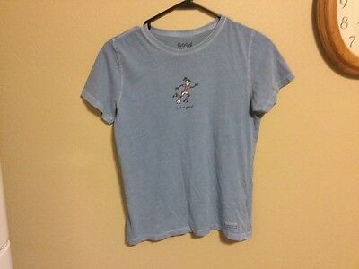 Life is Good Soccer S/S girls tee shirt blue Girls XL (12-14)