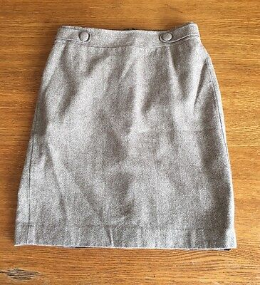 Ann Taylor Size 6 Wool Blend Lined Brown Skirt Above The Knee
