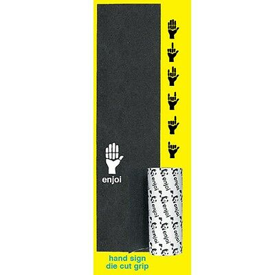 Enjoi Skateboards Grip Hand Signs Die Cut Black Griptape Full Deck Tape 9x33""