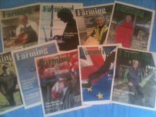 """"""" Farming """" 9 Newspaper Supplements Western Daily Press Pull Outs 2016 / 2017"""