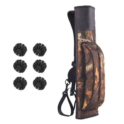 Camouflage Hunting Back Archery Quiver Bow Arrow Rack Holder Belt Bag Pouch
