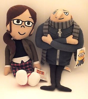 Despicable Me 2 - Gru & Margo NEW WITH TAGS Plush Stuffed Figures
