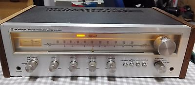 Vintage Pioneer Stereo Receiver Model SX-450 (works good)