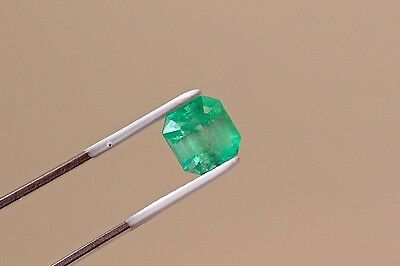 9mm 4.34 TCW Square Cut Natural Colombian Emerald Loose Gemstone