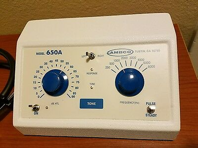 AMBCO 65OA AUDIOMETER HEARING TEST MACHINE with accessories