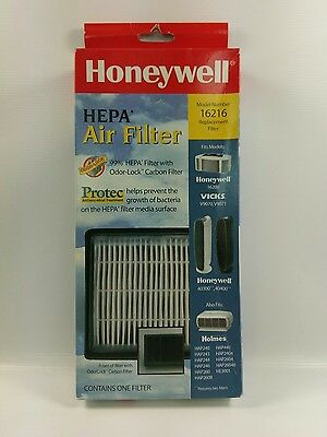 NIB Genuine OEM Honeywell 16216 HEPA 99% Odor Lock Carbon Air Filter