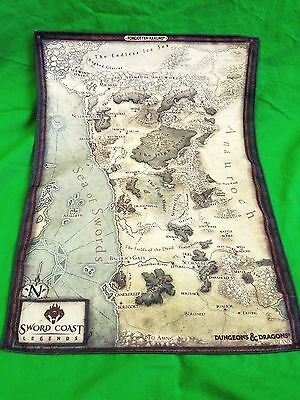D&D Promotional Fabric Map of the Sword Coast from Sword Coast Legends Exclusive