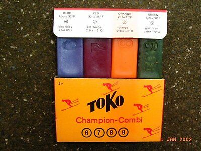 Retro pack of Four TOKO Wax in original box $15 incl post