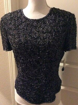 NWT Papell Boutique Evening By Adrianna Papell Black PL