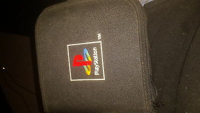 Playstation 1 Game Disc Carry Case + demos +memory cards