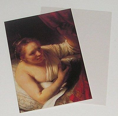 Rembrandt Portraits - Young Woman In Bed 1647 - Glossy Postcard & Envelope