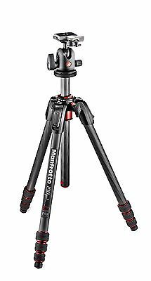Manfrotto MK190GOC4TB-BH 190 Go! Carbon Fiber 4-Section Tripod with Head