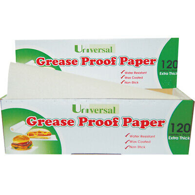 3 x Universal Greaseproof Paper, 30cm x 120m, Each Roll
