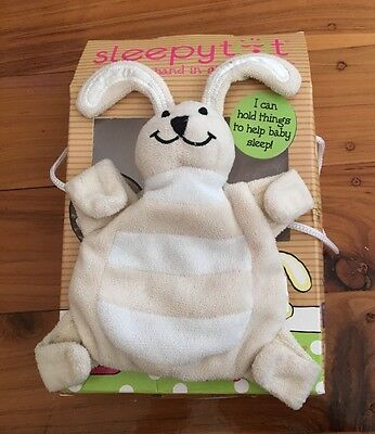 Baby sleepytot bunny, dummy holder, comforter blanket - Small Cream