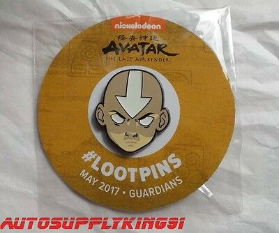 Avatar The Last Airbender Exclusive Loot Crate Aang Enamel Lapel Pin May 2017