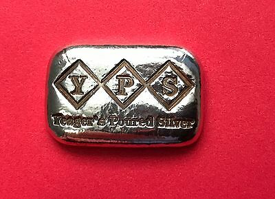 YPS - 2015 Yeager Hand Poured Silver USA - 1 oz Fine Silver Bar .999+
