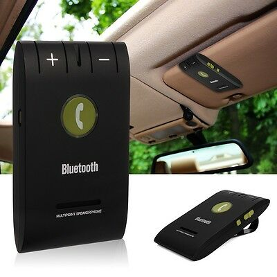 Bluetooth 4.0 Slim Magnetic Wireless Handsfree Car Kit Speaker Phone Visor Clip