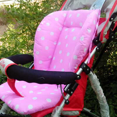 Portable Baby Stroller Polka Dot Printed Comfortable Seat Cushion Pads TY